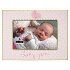 <strong>Malden</strong> Baby Girl Rabbit Ceramic Picture Frame