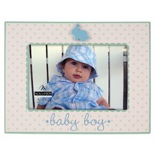 Baby Boy Rabbit Ceramic Picture Frame