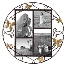 4 Opening Butterfly Circle Wire Picture Frame