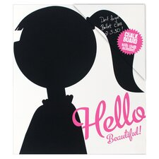 "Hello Beautiful! 1' 1"" x 11.5"" Chalkboard"
