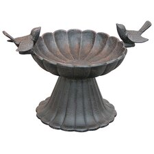 Twin Birds Tabletop Birdbath