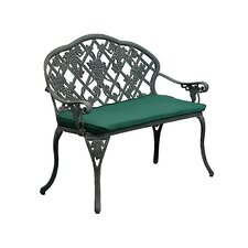 <strong>Innova Hearth and Home</strong> Grape Cast Iron/Aluminum Garden Bench with Cushion
