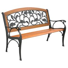 Garden Leaves Cast Iron Park Bench