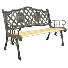 <strong>Innova Hearth and Home</strong> Hunting Cast Iron Park Bench