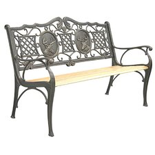 <strong>Innova Hearth and Home</strong> Deer Cast Iron Park Bench