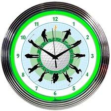 "15"" Golf Neon Clock"
