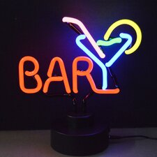 Business Signs Bar with Martini Neon Sign