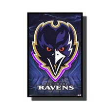 Baltimore Ravens Neon LED Framed Vintage Advertisement