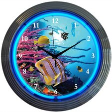 "Bar and Game Room 15"" Aquarium Wall Clock"
