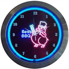 "<strong>Neonetics</strong> Business Signs 15"" Best BBQ Wall Clock"