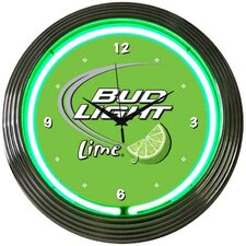 "Drinks 15"" Bud Light Wall Clock"