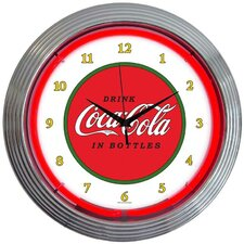 "Drinks 15"" Coca Cola 1910 Classic Wall Clock"