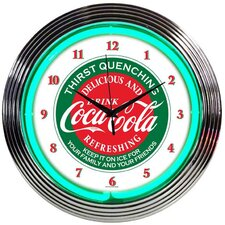 "Drinks 15"" Coca Cola Wall Clock"
