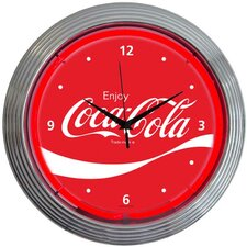 "Drinks 15"" Coca Cola Wave Wall Clock"
