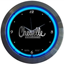 "Cars and Motorcycles 15"" Chevelle Wall Clock"
