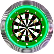 "<strong>Neonetics</strong> 15"" Darts Wall Clock"