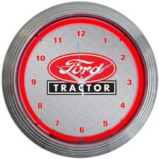"<strong>Neonetics</strong> 15"" Ford Tractor Wall Clock"