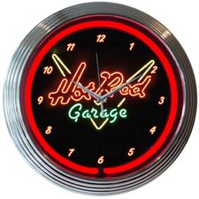 "<strong>Neonetics</strong> 15"" Hot Rod Garage Wall Clock"