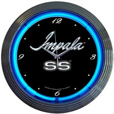 "Cars and Motorcycles 15"" Impala Wall Clock"