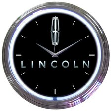 "15"" Ford Lincoln Wall Clock"