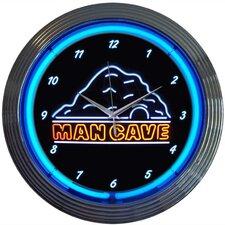 "15"" Man Cave Wall Clock"