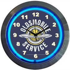 "Cars and Motorcycles 15"" Oldsmobile Service Wall Clock"
