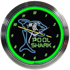 "15"" Pool Shark Wall Clock"
