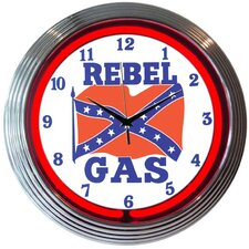 "<strong>Neonetics</strong> Cars and Motorcycles 15"" Rebel Gas Wall Clock"