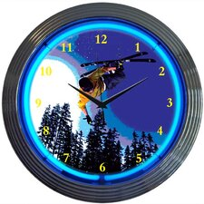 "<strong>Neonetics</strong> Sports 15"" Skiing Wall Clock"