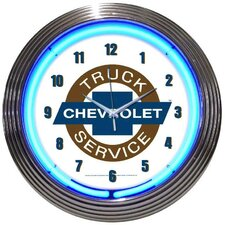 "Cars and Motorcycles 15"" Chevy Truck Wall Clock"