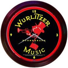 "Retro 15"" Wurlitzer Wall Clock"