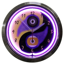 "<strong>Neonetics</strong> Bar and Game Room 15"" Billiards Yin Yang Wall Clock"
