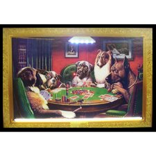 Dogs Playing Poker Neon LED Poster Sign