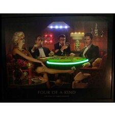 4 of a Kind Neon LED Framed Vintage Advertisement