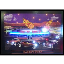 <strong>Neonetics</strong> Haileys Diner Neon LED Poster Sign