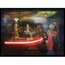 Java Dreams Neon LED Poster Sign