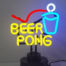Business Signs Beer Pong Neon Sculpture