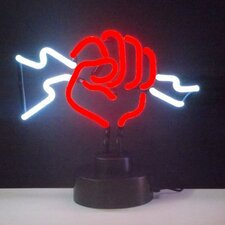 Business Signs Fist with Lightning Neon Sign