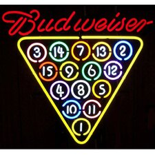 Business Signs Budweiser 15 Ball Rack Neon Sign