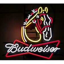 <strong>Neonetics</strong> Business Signs Budweiser Clydesdale Neon Sign