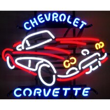 Cars & Motorcycles GM Corvette 1950s Neon Sign