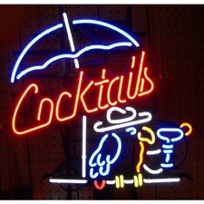 Business Signs Cocktail and Parrot Neon Sign