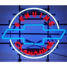 Cars and Motorcycles Genuine Chevrolet Heritage Emblem Neon Sign