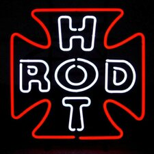Hot Rod Cross Neon Sign