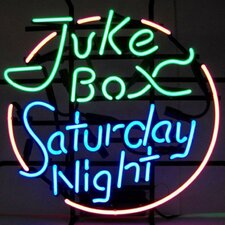 Bar & Game Room Juke Box Saturday Night Neon Sign