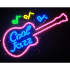Cool Jazz Guitar Neon Sign