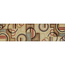Barclay Ivory / Natural Arcs and Shapes Modern Rug