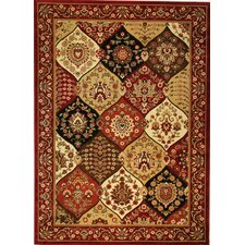 Barclay Red Wentworth Panel Rug