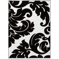 Melody Vines Damask Contemporary Rug