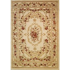 Dulcet Ivory Versaille Floral Rug